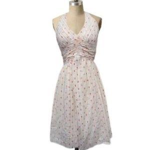 Anthropologie Swiss Dots Halter Dress Size 4